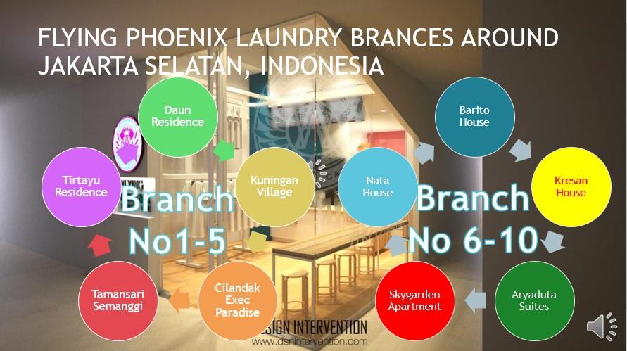 Flying Phoenix Laundry Branches in Jakarta Selatan Indonesia