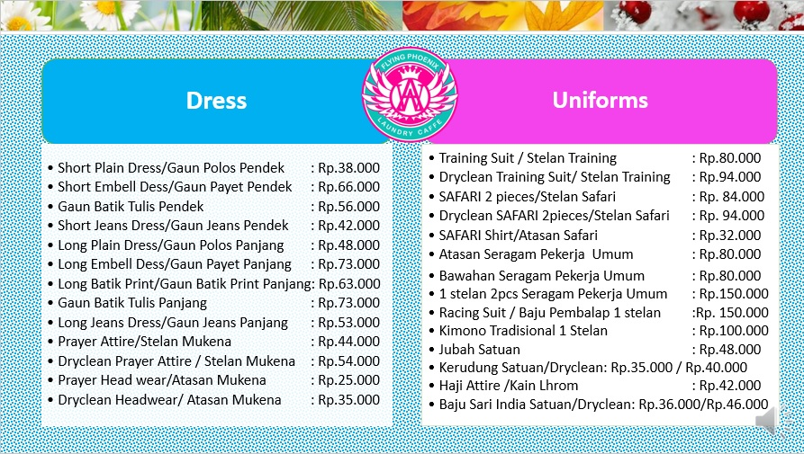 Our Price for Dress and Uniforms