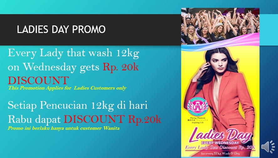 Special Discounts on Ladies Day